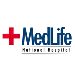 Med Life National Hospital  Logo Design