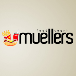 Muellers Food Court  Logo Design