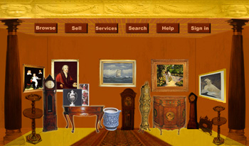Antique Online Store Web Design