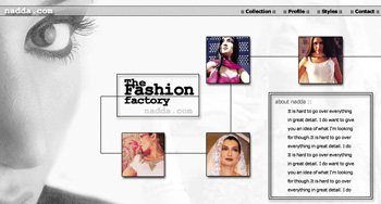 Nadda Online Fashion Web Design