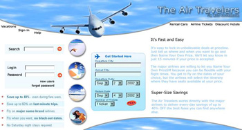 Air Travelers Web Design