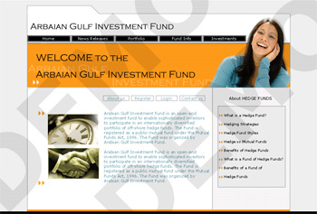 Arabian Gulg Investment Fund Web Design