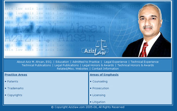 Aziz Law Web Design