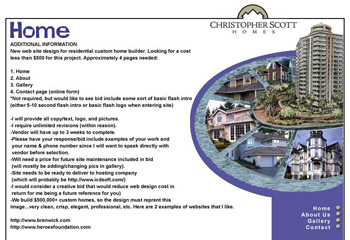Christopher Scott Homes Web Design