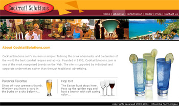 Cocktail Solutions Web Design