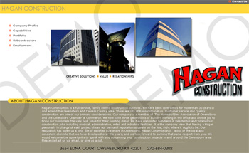 Hagan Construction Web Design