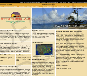 Hawaii Weather Today Web Design