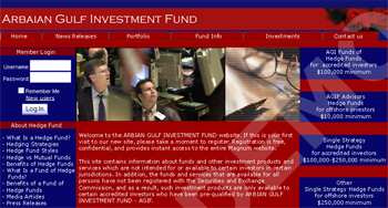Hedge Fund Investment Web Design