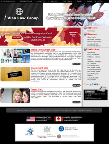 i Visa Law Group Web Design