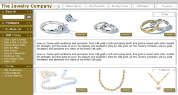 Jewelry Company Web Design