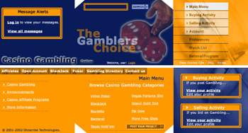 Gamblers Choice Web Design