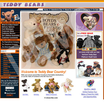Teddy Bears Web Design