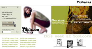 Top Looks Fashion Web Design