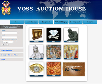Voss Auction House Web Design